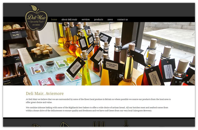 Website design and development for Deli Mair