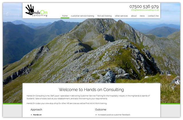 Website design for Hands On Consulting