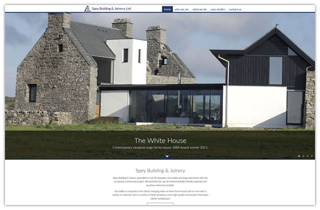 Website design for Spey Building and Joinery Ltd