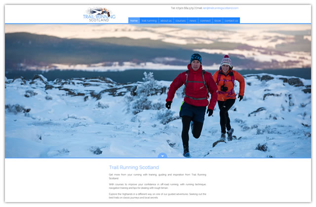 Website design for Trail Running Scotland